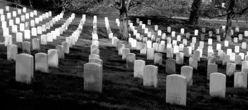 In memory. Tomb stones in Washington DC landmarks stock image