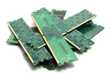 Memory. DDR memory modules for desktop computers Royalty Free Stock Images