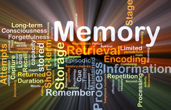 Memory background concept glowing Stock Images