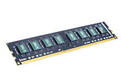 Memory bankl DDR3  on white background. Stock Photos