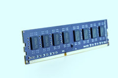 Memory bankl DDR3  on white background. Stock Photography