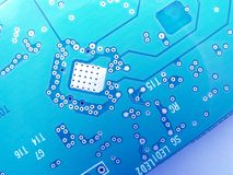 Memory board. Computer memory in blue color Royalty Free Stock Images