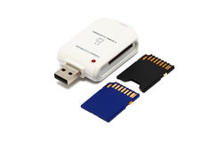 Memory Card Adapter Royalty Free Stock Images