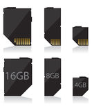 Memory card black Stock Photo