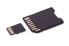 Memory Card (Clipping path) Stock Photography