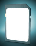 Memory card on dark background. Royalty Free Stock Photos