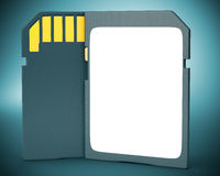 Memory card on dark background. Stock Photos