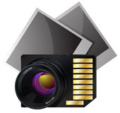 Memory card icon Stock Photography