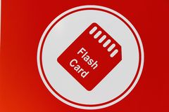 Memory card icon Stock Photo