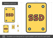 Memory card line icon. Royalty Free Stock Photo