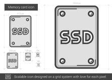 Memory card line icon. Stock Photo