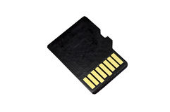 Memory card micro CD. On white background Royalty Free Stock Photo