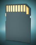 Memory Card On Dark Background. Royalty Free Stock Photo