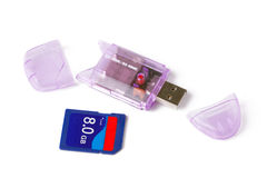 Memory card reader Stock Photo