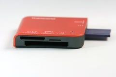 Memory card reader. Multy memory card reader isolated closeup Royalty Free Stock Photography
