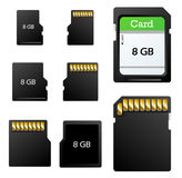 Memory card set Royalty Free Stock Image