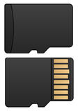 Memory card royalty free illustration