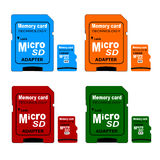 Memory card in. On white background Royalty Free Stock Images
