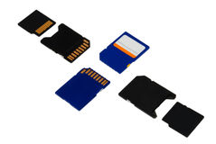 Memory cards Stock Image