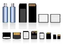 Memory cards, drive collection Royalty Free Stock Photo