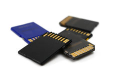 Memory cards Royalty Free Stock Photography