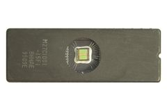 Memory chip. Macro photo royalty free stock photos