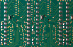 Memory chip circuit board detail Stock Images