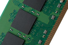 Memory chip circuit board detail Stock Image