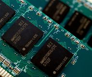 Memory chip Stock Image