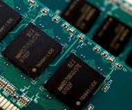 Memory chip. Computer memory chip close detail Stock Image