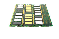 Memory chips for computer. Over white stock photo