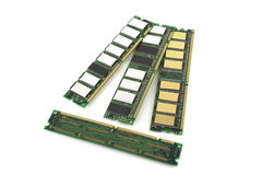 Memory chips for computer. Over white royalty free stock photography