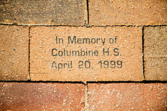 In Memory of Columbine Stock Photos