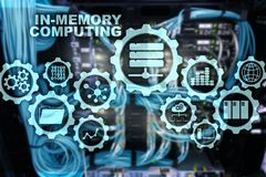 In-Memory Computing. Technology Calculations Concept. High-Performance Analytic Appliance. In-Memory Computing. Technology Calculations Concept. High vector illustration