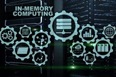 In-Memory Computing. Technology Calculations Concept. High-Performance Analytic Appliance.  vector illustration