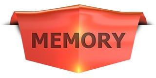 Banner memory vector illustration
