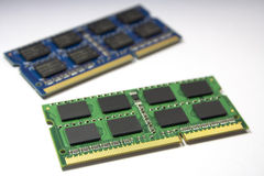 Memory. Double data rate type three synchronous dynamic random-access memory   for laptop Royalty Free Stock Photos
