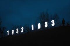 In memory of the famine-genocide of 1932-1933 in Ukraine Stock Image