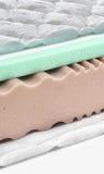Memory foam - latex mattress cross section - hi quality Stock Photos