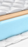 Memory foam - latex mattress cross section - hi quality Stock Photography