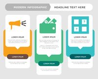 Memory game, cashback, advocacy infographic. Memory game business infographic template, the concept is option step with full color icon can be used for cashback Stock Images