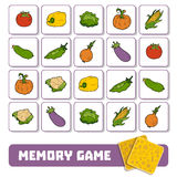 Memory game for children, cards with vegetables Royalty Free Stock Photo