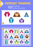 Memory game children geometry shapes Royalty Free Stock Images