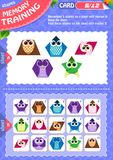 Memory game children shapes 5. Memory game children. learning of geometry shapes. Memory training Stock Photography