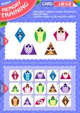Memory game children shapes 10. Memory game children. learning of geometry shapes. Memory training Stock Photography