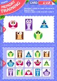 Memory game children shapes 1. Memory game children. learning of geometry shapes. Memory training Royalty Free Stock Image