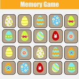 Memory game for toddlers. Educational children game. Easter theme. Find same eggs Stock Photo