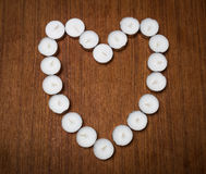 Memory heart Royalty Free Stock Images