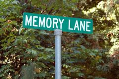 Memory Lane. Street sign royalty free stock images