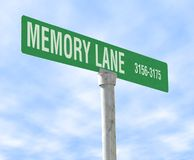 Memory Lane. A photo of a sign of Memory Lane Stock Images